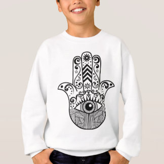 Hamsa Hand Schwarzweiss Sweatshirt