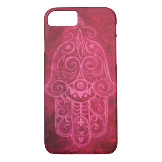 Hamsa in der Magenta iPhone 8/7 Hülle