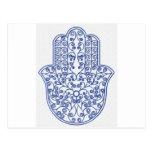 hamsa*tunis*morocco*henna*blue postkarte