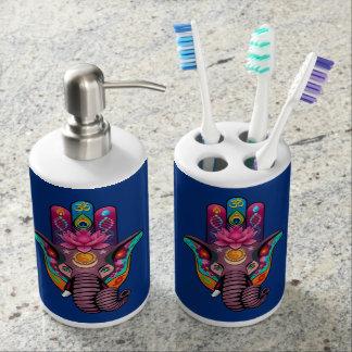 Hamsanesh Zahnbürste-Halter-und Seifen-Zufuhr-Set Zahnbürstenbehälter