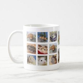 Hamster-/Gerbil-Collagen-Foto-Tasse (rund) Kaffeetasse