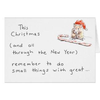 Hamster-Weihnachtskarte Karte