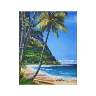 "Hanalei Bucht, Kauai 11"" x 14"" Leinwand-Druck Leinwanddruck"