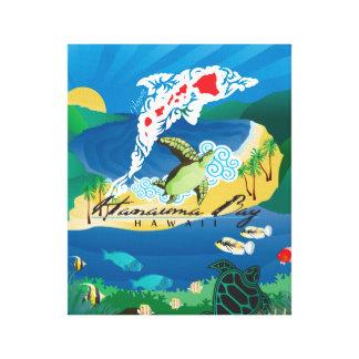 Hanauma Bucht-Hawaii-Delphin Leinwanddruck