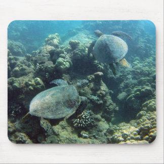 HANAUMA BUCHT HAWAII - Hawaii-Meeresschildkröte Mousepad