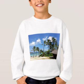 Hanauma Bucht-Hawaii-Kokosnuss-Bäume Sweatshirt