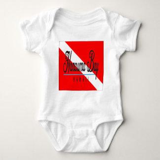 Hanauma Bucht-Hawaii-Tauchen-Flagge Baby Strampler