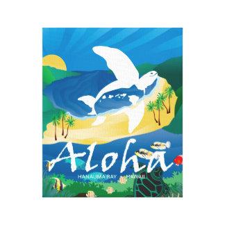 Hanauma Bucht-Hawaii-Wal Aloha Leinwanddruck
