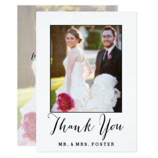 Hand beschriftetes Skript Wedding   danken Ihnen Karte