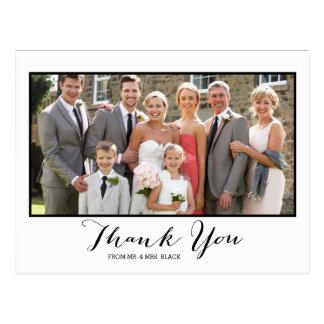 Hand beschriftetes Wedding Foto des Skript-  Postkarte
