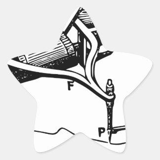Hand, die altes Gerät repariert Stern-Aufkleber