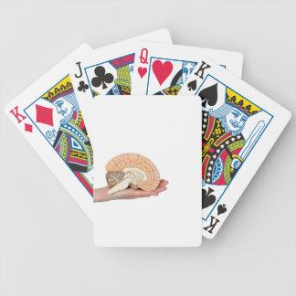 Hand, die Gehirnhemisphäre auf weißem Hintergrund Bicycle Spielkarten