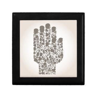 Hand eines Teils eines Körpers Erinnerungskiste