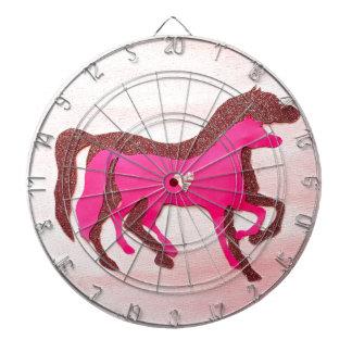 Hand entwarf rosa PferdeDartboard Dartscheibe