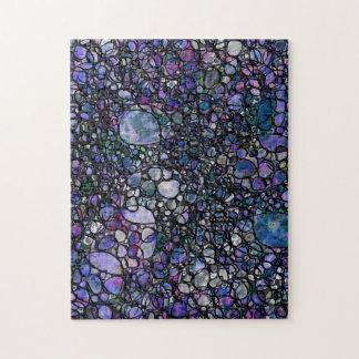 Hand-Gezeichnete abstrakte Kreise, Blau, lila, Puzzle