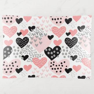 Hand gezeichnete Herzen und Punkt-Muster ID471 Dekoschale