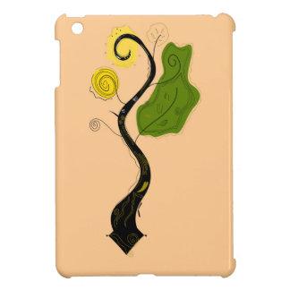 Hand gezeichneter dekorativer Baum. Ursprüngliches iPad Mini Hülle