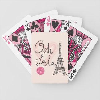 Hand gezeichneter Eiffel-Turm Bicycle Spielkarten