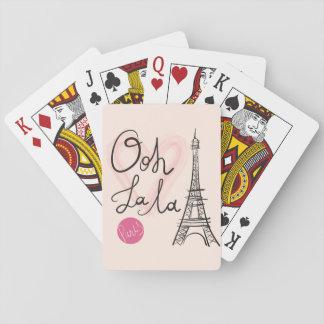 Hand gezeichneter Eiffel-Turm Spielkarten