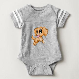 Hand gezeichneter goldener baby strampler