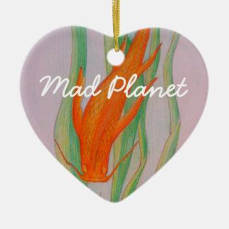 Hand gezeichneter Koi Karpfen Keramik Ornament