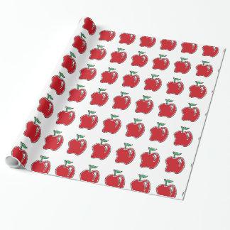 Hand-gezeichnetes Apple-Cartoon-Verpackungs-Papier Geschenkpapier