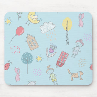 Hand gezeichnetes niedliches Material ID360 Mousepad