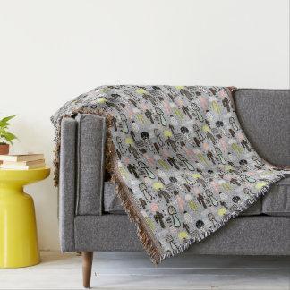 Hand gezeichnetes strukturiertes Kaktus-Muster Decke