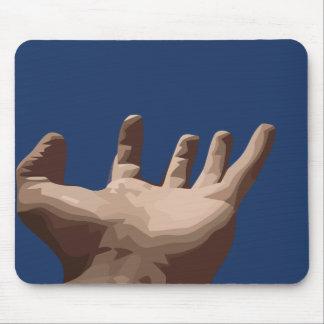Hand und Himmel Mousepad