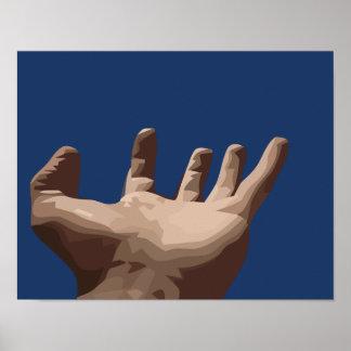 Hand und Himmel Poster
