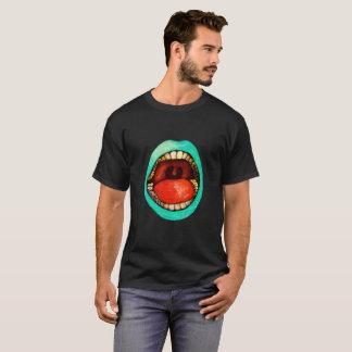 Hand zeichnen entworfenen T - Shirt-Mund T-Shirt