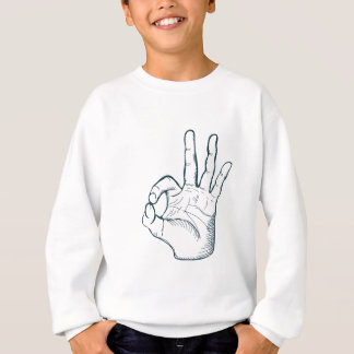 Hand zeichnen Vintages okay Zeichen der Skizze Sweatshirt
