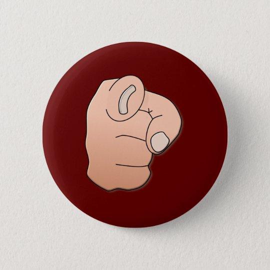 Hand Zeigefinger hand pointer finger Runder Button 5,1 Cm