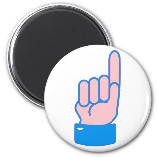 Hand Zeigefinger index finger Runder Magnet 5,1 Cm