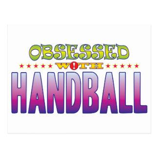 Handball 2 besessen gewesen postkarte