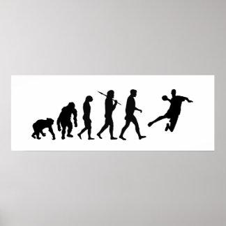Handball-enormes Plakat - Handball-Evolution des S