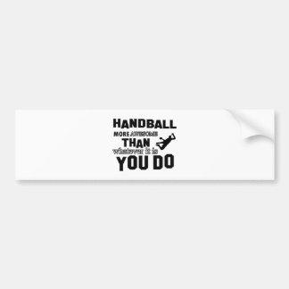 Handball fantastischer als, was Sie tun Autoaufkleber