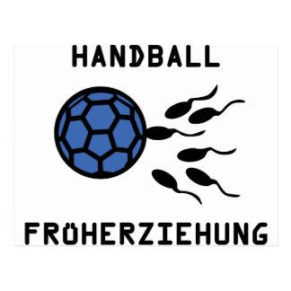 Handball Früherziehung Ikone Postkarten