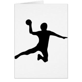 Handball spieler dodgeball grußkarte