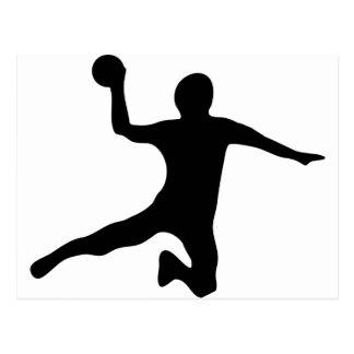 Handball spieler dodgeball postkarte