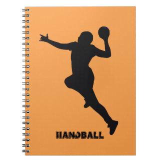 Handball-Spieler Notizblock