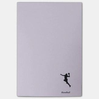 Handball-Spieler Post-it Klebezettel