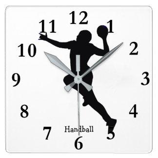 Handball-Spieler Wanduhr