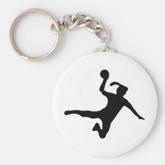 Handball spielerin frauenhandball standard runder schlüsselanhänger