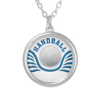 handball wings versilberte kette