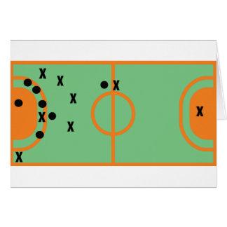 Handballfeld mit Spielerikone Grußkarte
