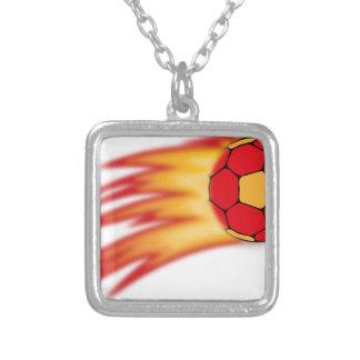 Handballkomet Halskette Mit Quadratischem Anhänger