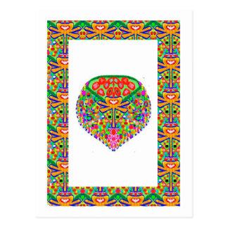 Handcrafted Juwel KUNST durch NAVIN JOSHI Postkarte