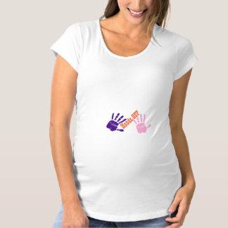 Handdrucke u. -hände WEG Schwangerschafts T-Shirt