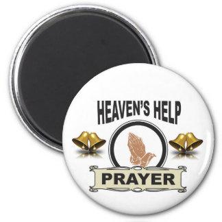 Hände der Hilfe und des Gebets Runder Magnet 5,7 Cm